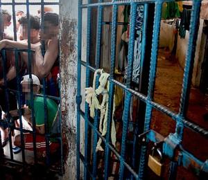 Superlotação no Complexo Penitenciário de Pedrinhas, em São Luís, no Maranhão (Foto: Luiz Silveira/ Agência CNJ)