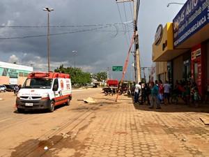 Samu atestou morte de eletricista (Foto: Ivanete Damasceno/G1)
