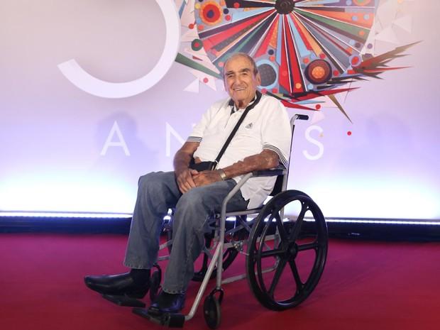 O ator Elias Gleizer, na festa de 50 anos da Globo (Foto: Paulo Belote/Rede Globo)