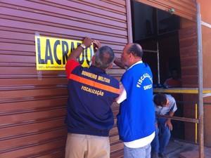 Armazem Usina foi lacrado no Jaraguá (Foto: Natalia Souza/G1)