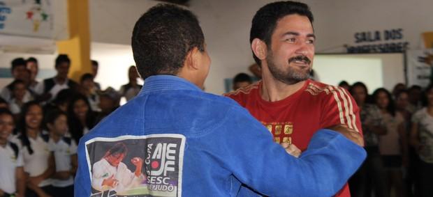 Expedito Falcão Judô treinador (Foto: Náyra Macêdo/GLOBOESPORTE.COM)