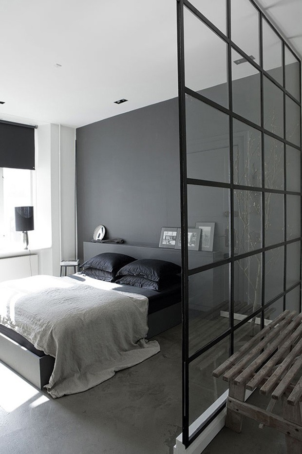 quarto cinza 15 op es elegantes casa vogue ambientes. Black Bedroom Furniture Sets. Home Design Ideas