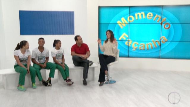 Representantes do interior se destacam no 'Estadual de Trampolim'. (Foto: Reprodução / Inter TV)
