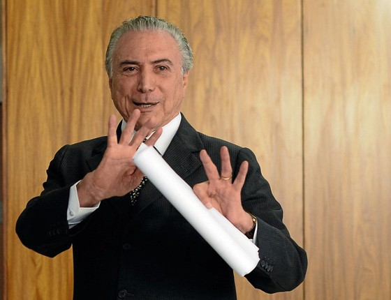 O Presidente Michel Temer no Palácio do Planalto (Foto:  ANDRESSA ANHOLETE/AFP)