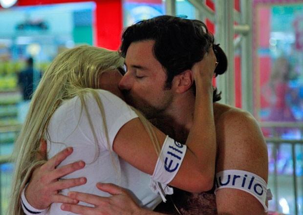 Murilo e Ellen viveram um romance no confinamento (Foto: Pedro Curi/TV Globo)