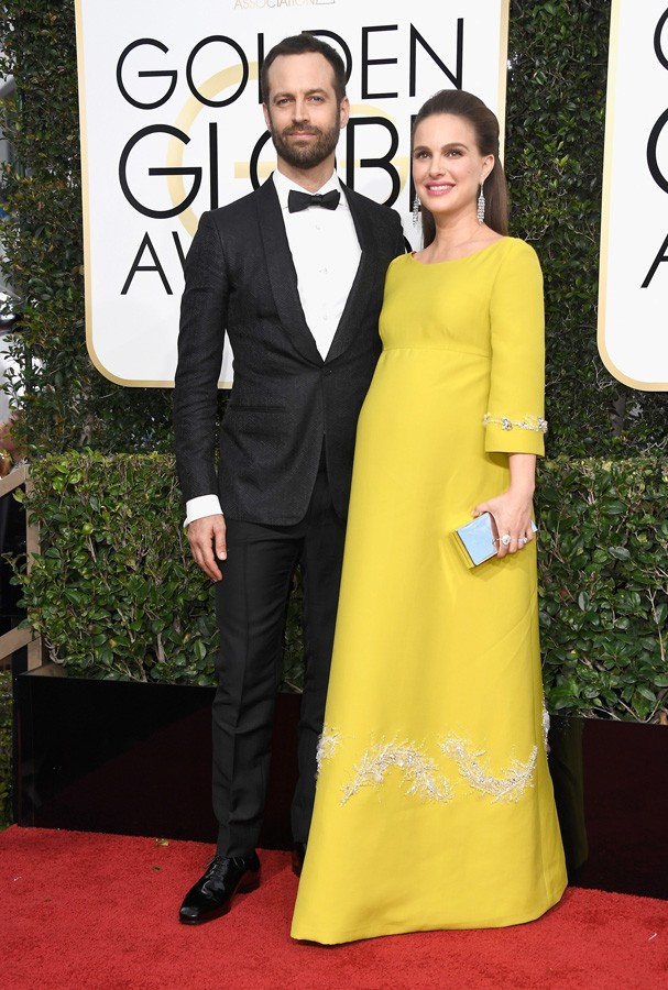 BEVERLY HILLS, CA - JANUARY 08: Choreographer Benjamin Millepied and actress Natalie Portman attend the 74th Annual Golden Globe Awards at The Beverly Hilton Hotel on January 8, 2017 in Beverly Hills, California.  (Photo by Frazer Harrison/Getty Images) (Foto: Getty Images)