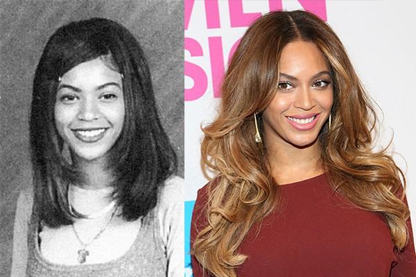 Beyonce cresceu, fez sucesso e hoje é considerada u ma das mulheres mais bonitas entre as celebridades. O que poucos sabem é que ela sempre f oi linda e só mudou mesmo o cabelo  (Foto: Reprodução e Getty Images)
