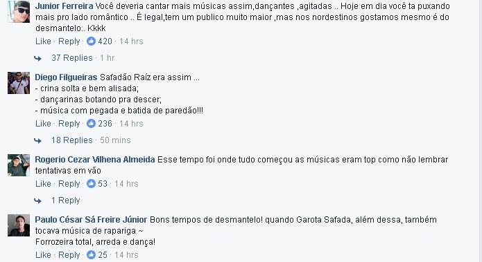 Fs de Wesley Safado pedem a volta do 'Safado raiz' (Foto: Reproduo/Facebook)