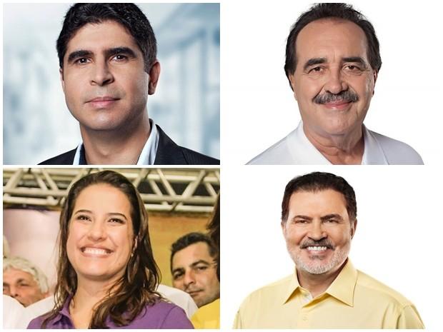 Participam do debate os quatro candidatos com maior representatividade na Câmara dos deputados (Foto: Arte/G1)