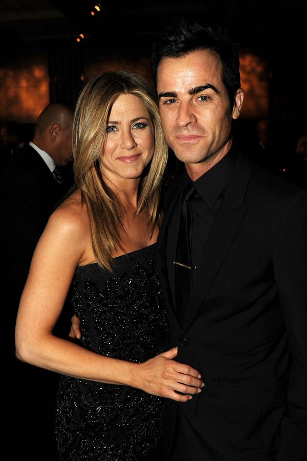Jennifer Aniston e o marido, Justin Theroux (Foto: Getty Images)