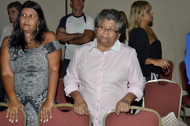 Marlene Mattos também foi ao culto (Foto: Roberto Teixeira/EGO)