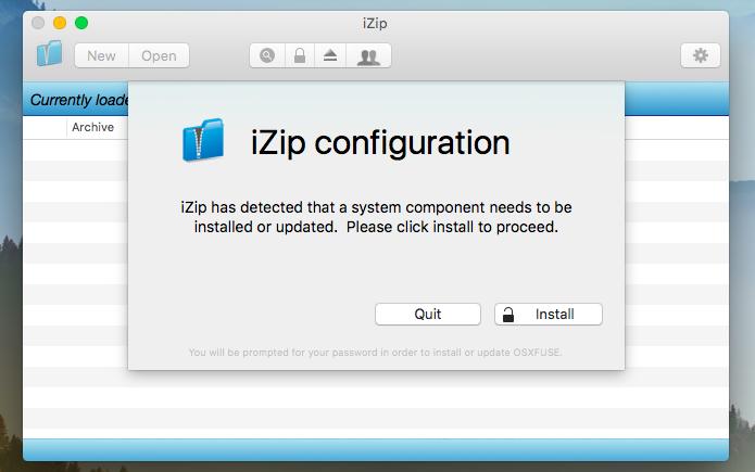iZip: completo e gratuito (Foto: Reprodução/Helito Bijora)