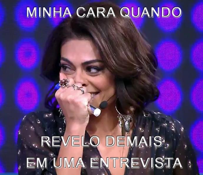 Juliana Paes gosta de postar memes no grupo da família (Foto: TV Globo)