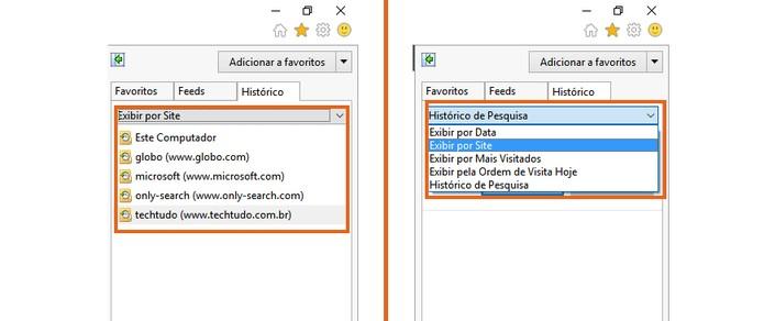 Personalize a exibição do histórico no Internet Explorer (Foto: Reprodução/Barbara Mannara)