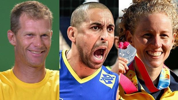 Escolha entre três medalhistas olímpicos do Time Brasil, Robert Scheidt, Serginho e Yane Marques, para carregar a bandeira do Brasil na abertura da Olimpíada (Foto: globoesporte.com)