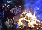 Ato anti-Copa tem confronto e 7 detidos em SP (Nelson Almeida/AFP)