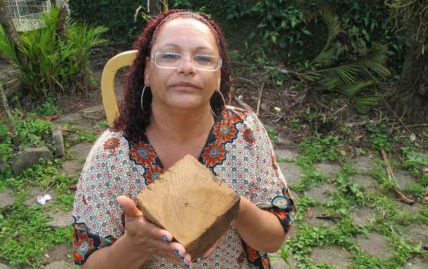 Tereza Borba trave Barbosa (Foto: Leonardo Zanotti / TV Tribuna)