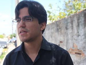 Maurício Santana, coordenador de comunicação da Universidade Federal do Piauí (Foto: Gustavo Almeida/G1)