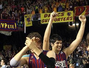 Basquete Barcelona x Real madrid (Foto: EFE)