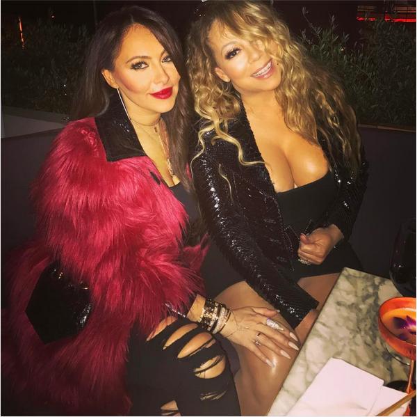 A cantora Mariah Carey com a empresária, Stella Bulochnikov (Foto: Instagram)