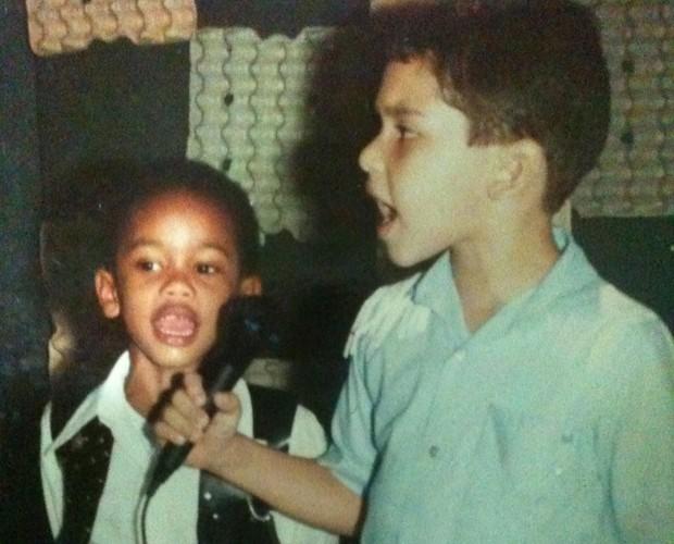 A estreia como cantor foi na creche  (Foto: Arquivo pessoal)