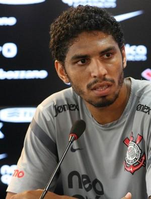 Wallace coletiva Corinthians (Foto: Anderson Rodrigues / Globoesporte.com)