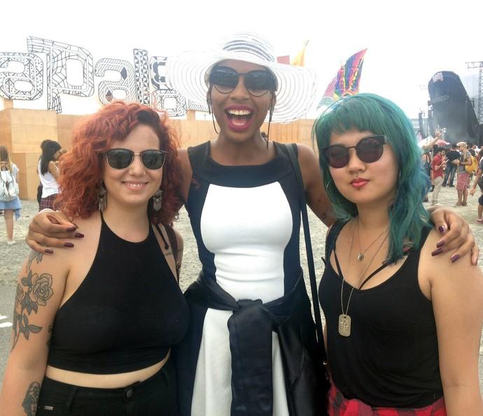 Trio de amigas do Rio de Janeiro vão curtir DJ Alok no Lollapalooza (Foto: Fernanda Frozza/Gshow)