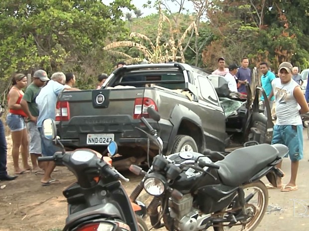 Acidente na BR-222 deixa dois mortos no MA (Foto: Reprodução/TV Mirante)