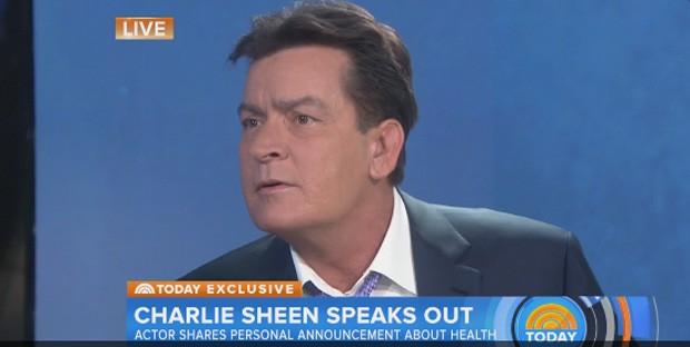 Charlie Sheen diz que é HIV positivo em programa de TV (Foto: Reprodução/Today.com)