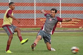 Noroeste, treino, Série A3, Fernandinho, Gabriel Barcos (Foto: Bruno Freitas / Noroeste EC)