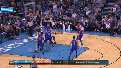 Melhores momentos de New York Knicks 105 x 116 Oklahoma City Thunder pela NBA