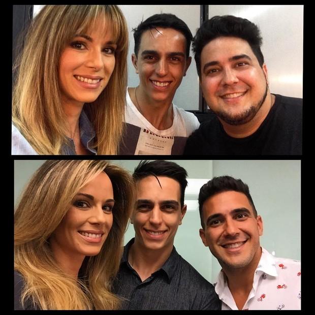 Ana Furtado com Ricardo Rodrigues e André Marques (Foto: Instagram / Reprodução)