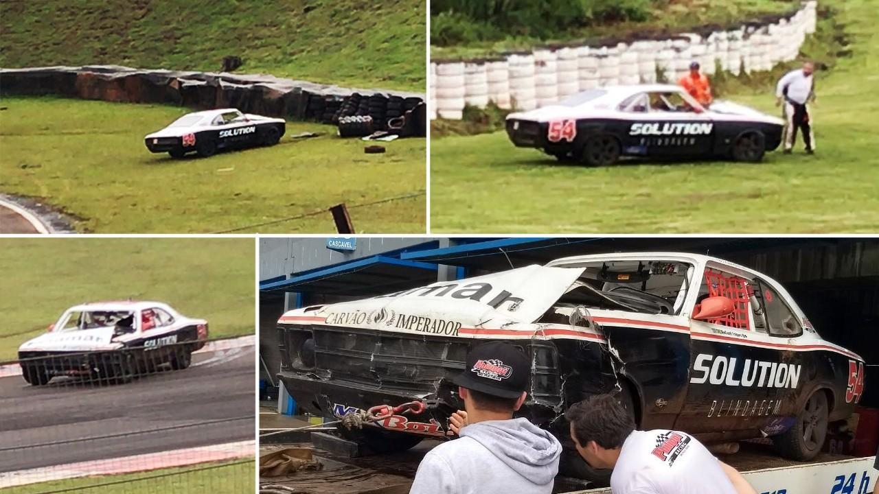 Acidente com o Old #54 de Rafael Lopes (Foto: Divulgação/Planeta Velocidade)