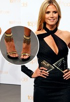 Heidi Klum inaugura seção 'Look do dia', com pretinho nada básico