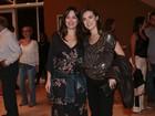 Natália Lage e Alessandra Maestrini vão a estreia de peça em São Paulo
