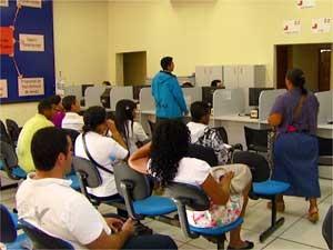 Centro Público de Atendimento ao Trabalhador (CPAT) em Campinas (Foto: Reprodução EPTV)