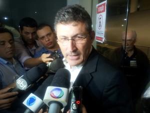Calú fala após ser absolvido pelo júri (Foto: Juliana Borges/ G1)