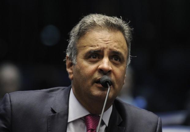 O senador Aécio Neves (PSDB-MG) em sessão do Senado (Foto: Edilson Rodrigues/Agência Senado)