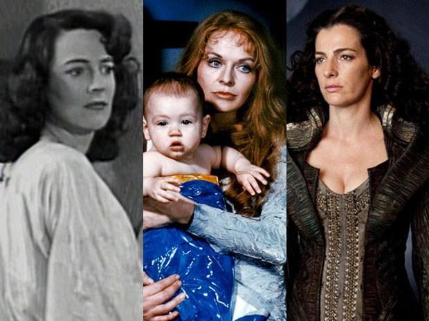 Luana Walters em 'Superman', Susannah York em 'Superman' e Ayelet Zurer em 'O homem de aço' (Foto: Divulgação)