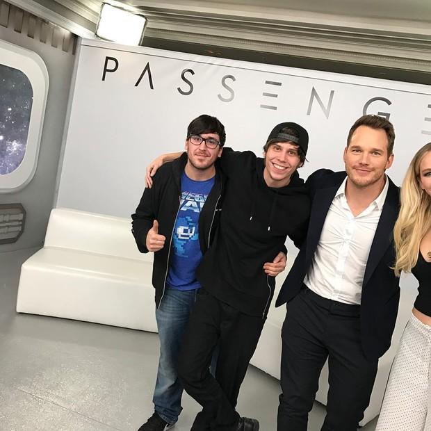 Chris Pratt e Jennifer Lawrence no Instagram (Foto: Reprodução/Instagram)
