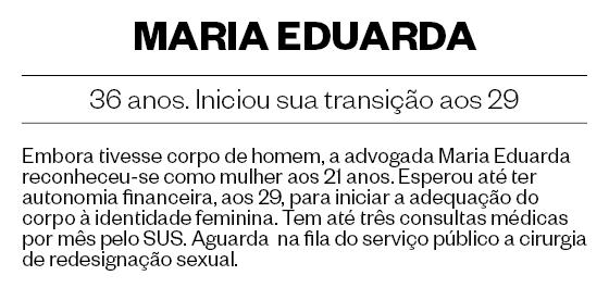 MARIA EDUARDA, 36 anos. Iniciou sua transição aos 29 (Foto: Daryan Dornelles/ÉPOCA)