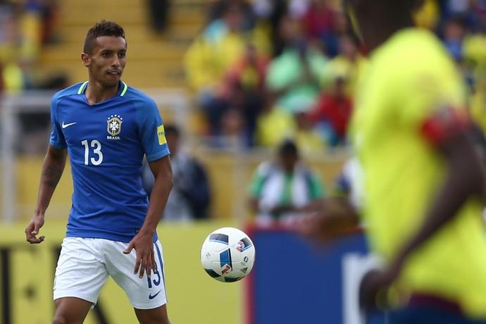 Marquinhos Brasil x Equador Eliminatórias (Foto: Lucas Figueiredo/CBF)