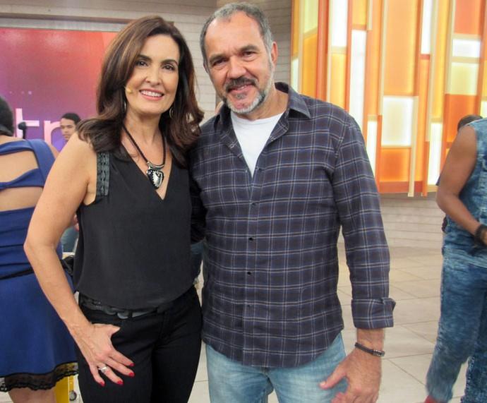 Fátima posa com o ator Humberto Martins  (Foto: Carolina Morgado/Gshow)