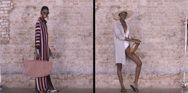 Editoras de moda montam produções para praia (Foto: Reprodução / YouTube)