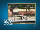 Homem realiza despejo irregular de entulho na Marambaia, em Belém