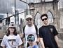 Murilo Benício curte Nova York com filhos após ir a jogo na Olimpíada