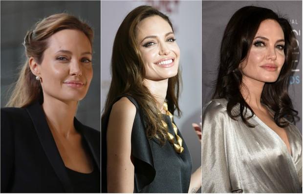 Angelina Jolie chega aos 40 anos exibindo beleza, sensualidade e estilo (Foto: Getty e AFP)