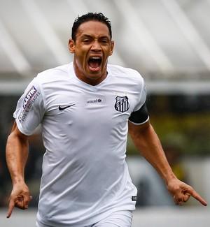Ricardo Oliveira, Santos x Goiás, Vila Belmiro (Foto: Ricardo Saibun/Santos FC)