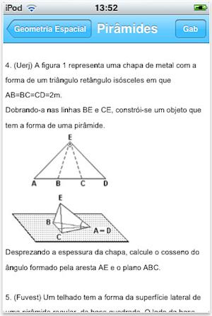 Aplicativo Exercitando Matemática com mais de 300 exercícios (Foto: Reprodução/App Store)