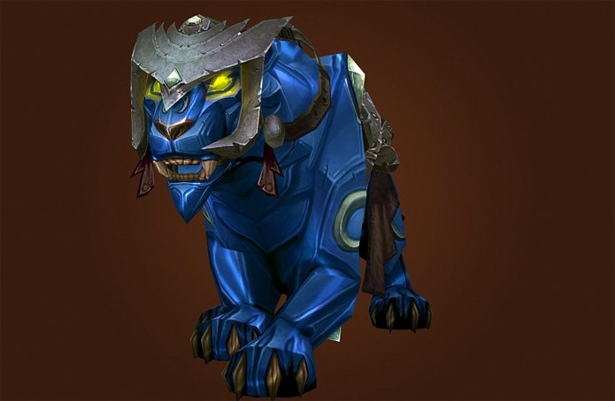 Pantera Safira possui uma versão mini de mascote que pode ser construído (Foto: Divulgação/Blizzard)